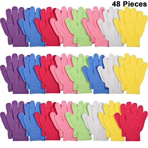 24 Paar Doppelseitige Peeling Handschuhe Bade Peeling Handschuhe Körper Peeling Handschuh für Duschkörper Spa Massage Entferner Abgestorbener Hautzellen