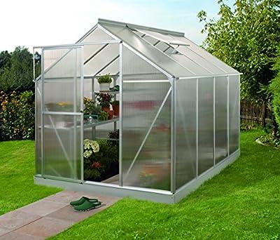 Vitavia Gewächshaus Triton - Ausführung: 5000 HKP 6 mm Alu, Fläche: ca. 5 m², mit 1 Dachfenster, Sockel: 1,90 x 2,54 m von Gartenwelt Riegelsberger auf Du und dein Garten