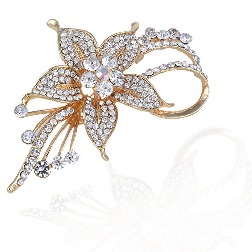 Premium Quality Brooch Classy Rose Gold Designer Party Wear Alloy Brooch For...