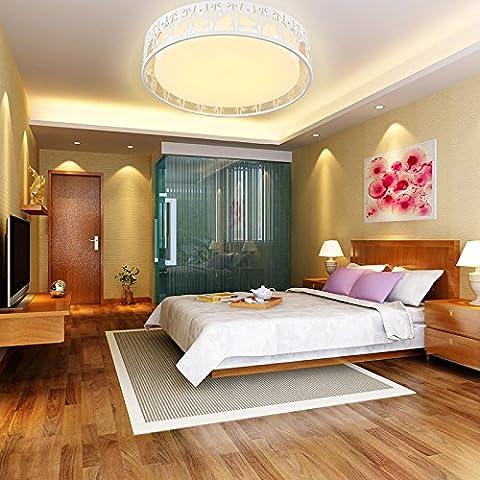 WAWZW LED-deckenlampe Pendelleuchte für Esszimmer Bad Schlafzimmer Flur Küche runden 54 cm - weißes Licht