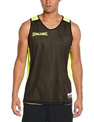 Spalding Bekleidung Teamsport Essential Reversible Shirt - Camiseta de baloncesto para hombre, color negro / amarillo neón, talla 4XL
