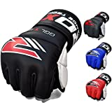 RDX Cow Hide Leather MMA Grappling Gel Gloves Cage Fighting UFC Sparring Glove Training T1