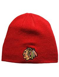 Chicago Blackhawks Edge Knit Cuff-Less Beanie Red by Zephyr