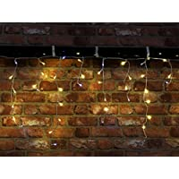 Toyland® 480 Warm White & White Twinkling LED Lights - Indoor/Outdoor Use - Includes Timer