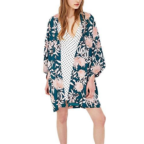 Scrolor Badeanzug Smock Womens Blusen Floral Bedruckte Cover Tops Mädchen Bikini Bademode Beach Party Sommer Sonnenschutz