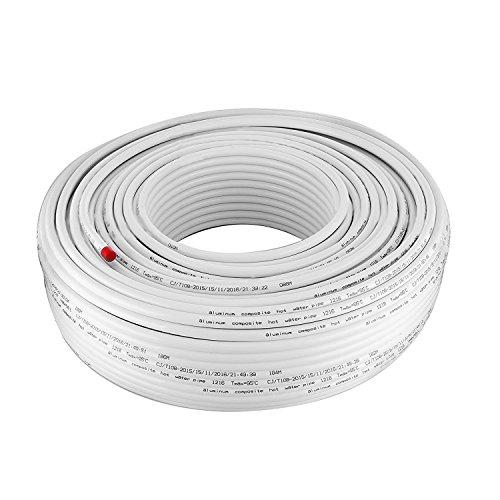 BanabaB 200M PEX AL PEX Verbundrohr 16 x 2mm Aluminium-Mehrschichtrohr Sauerstoff-Barriere Fußbodenheizung PEX Rohr Heißes und Kaltes Wasser PEX Rohr -