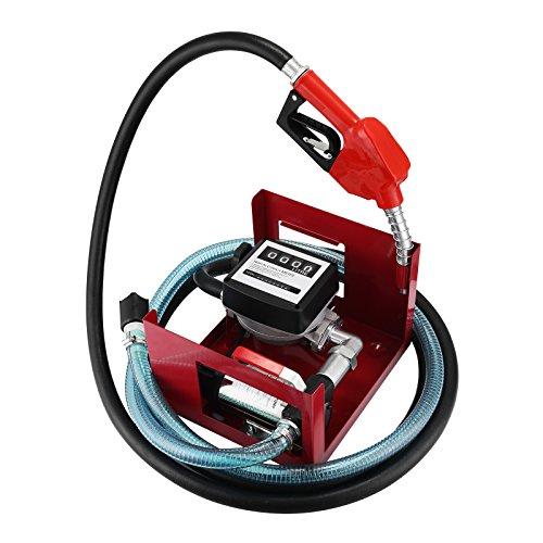 BuoQua 40L/min Pompa Gasolio Elettrica 220V Con Pistola Automatica Contatore 220V 600W Pompa Gasolio Elettrice Liquidi Diesel Pompa Gasolio Professio
