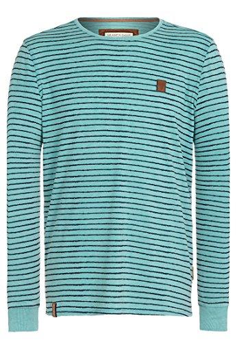 Naketano Male Sweatshirt Kommt Ein Dünnschiss III Heritage Fresh Blue Melange, L (Streifen-polo-pullover)