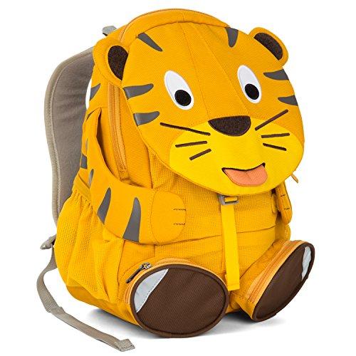 Affenzahn Kinder-Rucksack mit Brustgurt für 3-5 jährige Jungen und Mädchen im Kindergarten und Kita Großer Freund Theo Tiger - Gelb