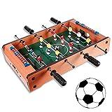 (101) Holz Tischfußball Spiel Mini Kickertisch Fußballtisch Kicker ca. 31 x 51c