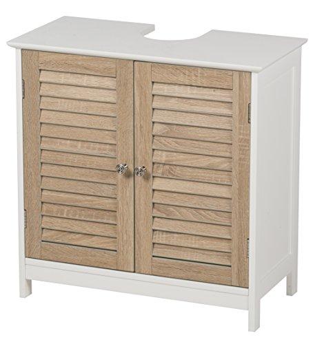 Waschbeckenunterschrank mit 2 Türen Holz/MDF Badschrank Badregal Waschtisch Unterschrank