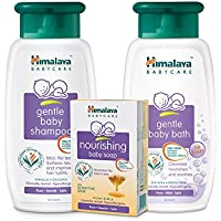 Himalaya Babycare Full Bathing Kit - Nourishing (Soap 75g*3, Shampoo 100ml, Baby Bath 100ml)
