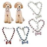 Baoblaze Crystal Diamante Bone Strass Ciondolo Pet Collana Gioielli per Cani, Animali Pet - Blu, S