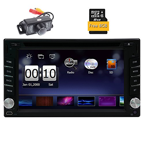Eincar 6.2 Zoll GPS-Auto-DVD-CD-Player Multimedia Autoradio Auto Double 2 Din MP3 Stereo Kopfeinheit FM AM Radio-Navigationssystem Subwoofer hintere Kamera und 8 GB Karten-Karte inklusive - Din Doppel Kenwood Stereo