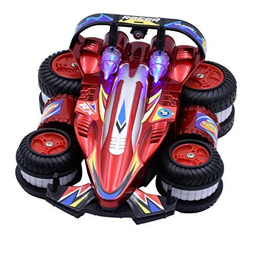 Aufrecht Laufende Geschwindigkeit Drift Spielzeugauto Fernbedienung Dump Stunt Auto Allradantrieb Vier-Rad Seitenwende Rennen,Red