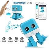 Cellstar Robot Interattivo Programmabile [App Controllo] Robot Telecomando per Giocattolo Bambino Interazione Emotiva/per Compagnia di Bambino -Blu
