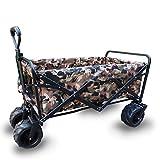 Faltbarer Bollerwagen Handwagen Portable S'effondrer Couleur De Camouflage Paniers Châssis En Acier Tissu Oxford Ordures De Transport Avec 4 Roues (Farbe : 4#, größe : 100x50x55cm)