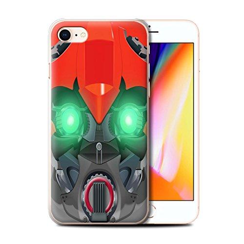 Stuff4 Hülle / Case für Apple iPhone 8 / Mega-Bot Blau Muster / Roboter Kollektion Bumble-Bot Red