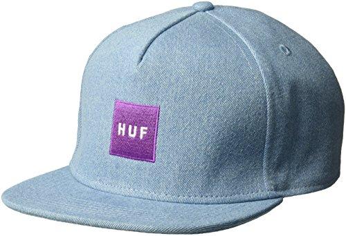 HUF Denim Box Logo Snapback Cap - Denim - Einstellbar