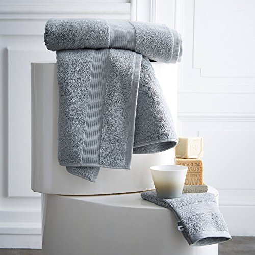 Lot De 2 Gants De Toilette 16cm X 21cm 600g/m² Zinc - Design Actuel Premium