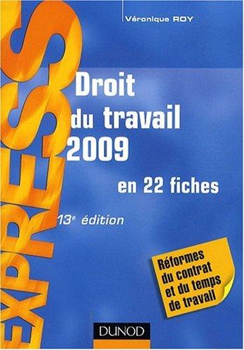 Droit du travail 2009