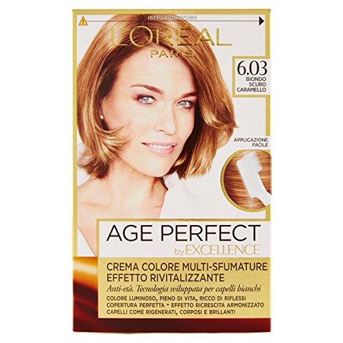L'Oréal Paris Excellence Age Perfect Crema Colore Effetto Rivitalizzante, 6.03 Biondo Scuro Caramello
