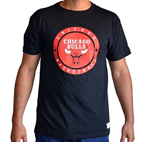 Mitchell & Ness Shirt Chicago Bulls Circle Patch black Schwarz