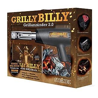 Steinel 065553 HL 1400 S – Pistola de aire caliente con boquilla para encendedor de barbacoa (230 V)
