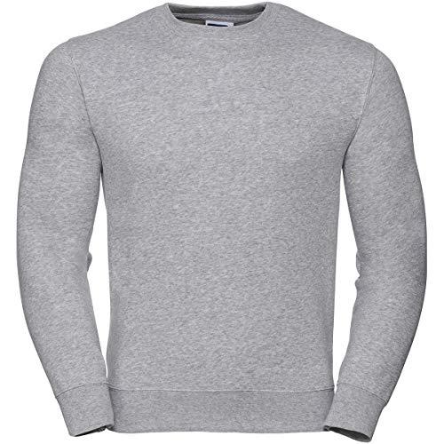 Russell Collection Klassisches Sweatshirt mit angesetzten Ärmeln R-262M-0, Farbe:Light Oxford;Größe:XXL Russell Athletic-sweatshirt Oxford