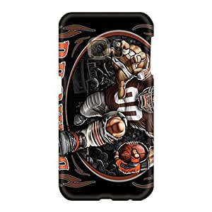 Bumper Hard Phone Cover For Samsung Galaxy S6 With Allow Personal Design Lifelike Cleveland Browns Pattern IanJoeyPatricia