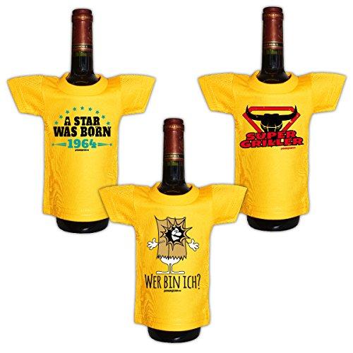 Mini set 3piccoli nel pacchetto::: 1964-Grill-frasi::: camicia per la bottiglia di Sylvester Capodanno