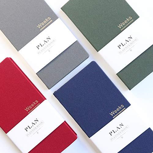 2019 neue klassische Hardcover Büro Schule wöchentliche Planer Notebooks Briefpapier, feine persönliche Agenda Planer Veranstalter, A6