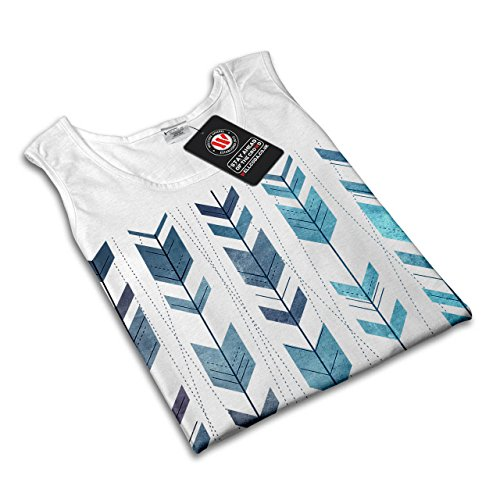 Pfeil Cool Entwurf Mode Gestalten Kunst Damen S-2XL Muskelshirt | Wellcoda Weiß