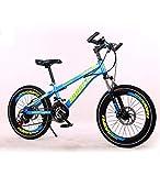 SXMXO 21-Gang MTB Mountainbike Kinderfahrrad Für Jungen Freestyle Kinderrad Für Jungen Und Mädchen 20 Zoll Mehrfarbig Optional,Blue