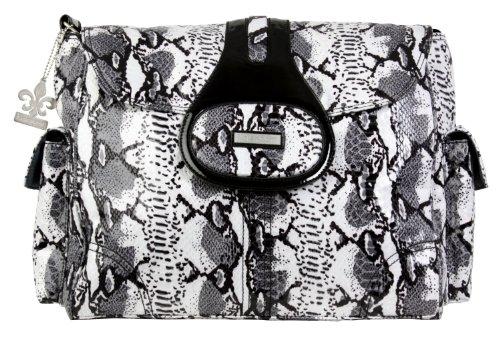 kalencom-elite-sac-a-langer-motif-python-noir-blanc