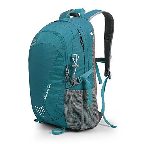 Frühling und Sommer Outdoor-Reisen Rucksack wasserdicht camping Tasche outdoor Tasche Student Rucksäcke für Männer und Frauen 30L Blue