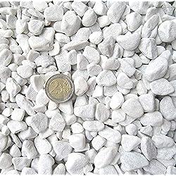 1kg-20kg Carrara Grava-Mármol Grava Color Blanco-grano 18-25mm