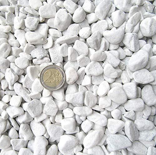 1 kg - 20 kg Carrara Gravier - Marbre blanc - Grain 18-25 mm 2 kg