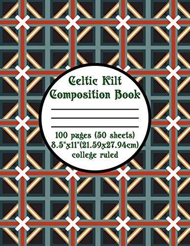 Celtic Kilt Composition Book -