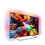 Philips Ambilight 55PUS7303/12 Televizyon, 139 cm (55 inç) Akıllı TV (4K UHD, LED TV, HDR Plus, Android TV, Micro Dimming Pro, Google Assistant), Koyu Gümüş