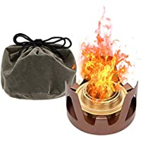 Lixada Spirit Burner Mini Ultra-light Alcohol Camping Stove Copper Alloy Furnace for Outdoor Cookout Picnic Hiking