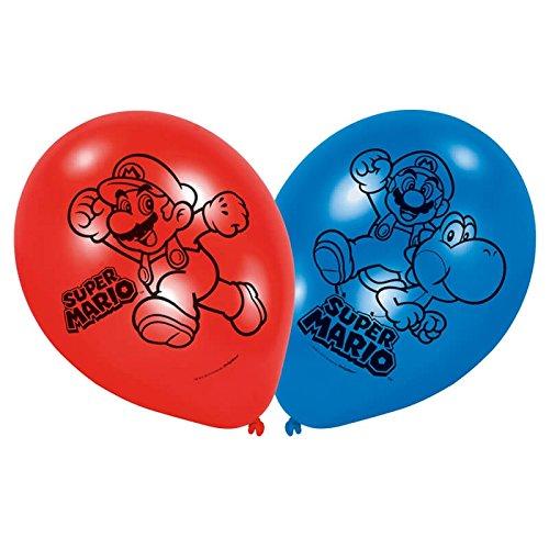 (Amscan Latex-Ballon 9 Zoll Supermario, mehrfarbig, 7AM9901546)