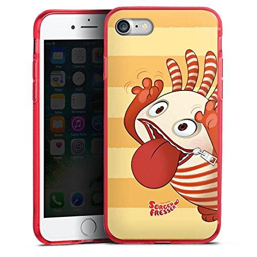 Apple iPhone 8 Silikon Hülle Case Schutzhülle Sorgenfresser Saggo Fanartikel Merchandise Silikon Colour Case rot