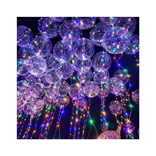 Transparente LED-Ballon-beleuchtete Luftballons, leuchtende Kugeln, Motto-Party-Zubehör, Lichterkette für Geburtstag, Hochzeit, Weihnachten, Party, Dekoration, 6 Stück, 45,7 cm