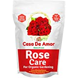 Casa De Amor Rose Care Special Organic Fertilizer for Rose Plants, Brown (900 Gram)