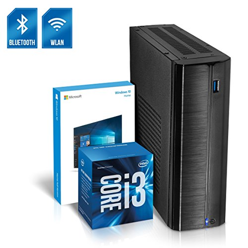 Kiebel Business Mini PC Nano 8.0 [190141] Intel Core i3 8100T 4x3.1GHz Quadcore, 8GB DDR4, 1000GB SSHD, Intel Grafik bis UltraHD(4K), HTPC, WLAN (433Mbit), Bluetooth, Energiespar Mini Computer, Windows 10