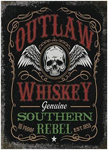 RKO Outlaw Whisky Pub bar Mann-Höhle Biker Schuppen Advert-Parent - 9 x 6.5 cm (Magnet) - 9 Schuppen