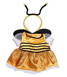 Bee Dress With Antenna For An 8-inch Teddy Bear.