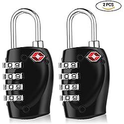 YOHOOLYO Candado de Combinación Candao de Seguridad 4 Dígitos para Maleta de Viaje Bolsa de Viaje Cerraduras de Equipaje Archivadores 2 PCS