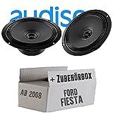 Audison APX 6.5-16cm 2-Wege Koax Lautsprecher - Einbauset für Ford Fiesta MK7 Front Heck - JUST SOUND best choice for caraudio